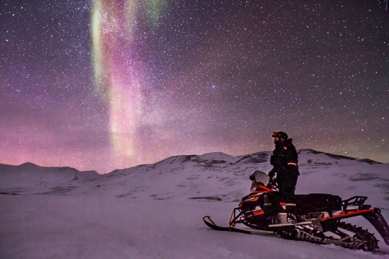 Swedish Lapland Snowmobile Tour from Kiruna