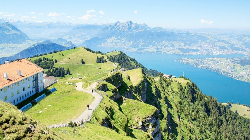 Mount Rigi Train, Cable Car, and Boat Round Trip from Lucerne