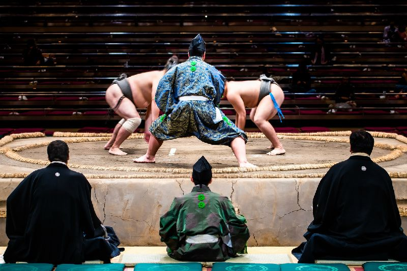 Half-Day Live Sumo Tournament Experience with Hot Pot Lunch in Tokyo