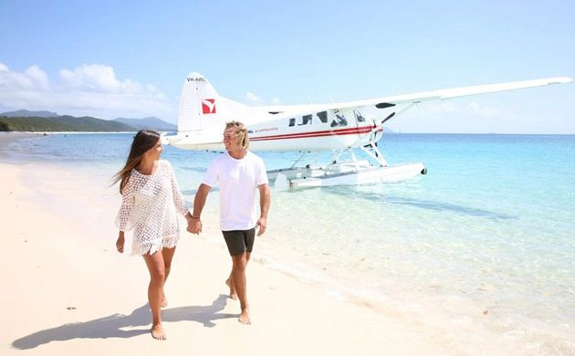 Great Barrier Reef Seaplane Flight and Water Landing Tour from Whitsundays