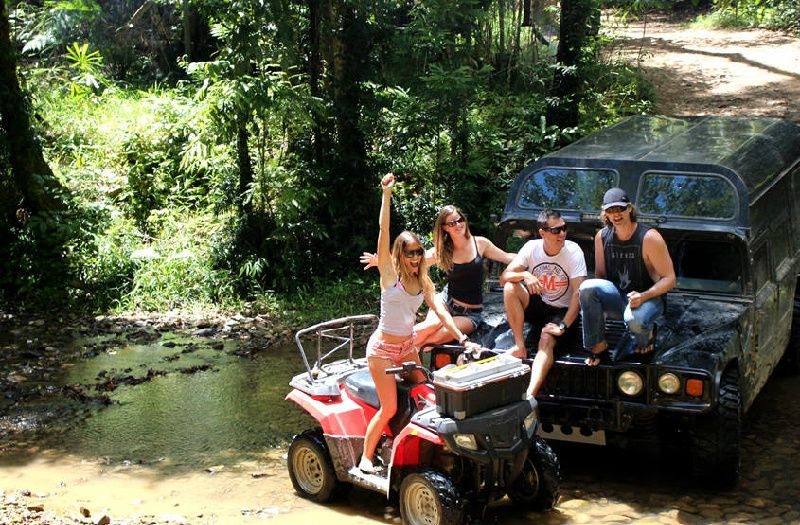Half-Day ATV Buggy or H1 Hummer Tour Through Cairns Rainforest